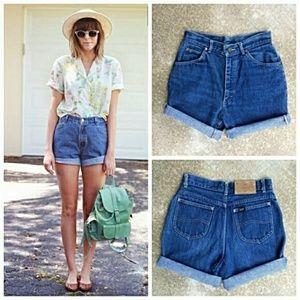 Vintage Lee Super High Waisted Shorts